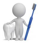 3d kleine mensen - tandarts stock illustratie