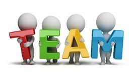 3d kleine mensen - team stock illustratie