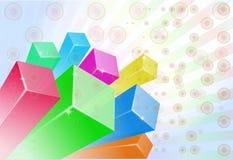 3D kleur als achtergrond Stock Foto