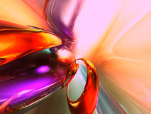 3D Kleurrijke Abstracte Glas geeft Achtergrond terug Royalty-vrije Stock Fotografie