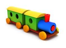 3d kleurrijke plastic trein Stock Afbeeldingen
