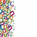 3d kleurrijke vierkante achtergrond Stock Afbeeldingen