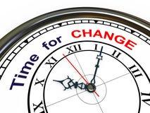 3d klok - tijd voor verandering Stock Afbeelding