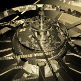 3d klokkenachtergrond Royalty-vrije Stock Afbeeldingen