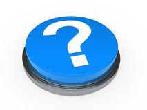 3d knoop blauw vraagteken Stock Fotografie