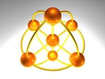3D Knoop van het Netwerk Stock Foto