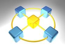 3D Knoop van het Netwerk Royalty-vrije Stock Fotografie