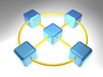 3D Knoop van het Netwerk Stock Afbeelding