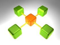 3D Knoop van het Netwerk Stock Afbeeldingen