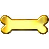 3d kość złota Zdjęcie Stock