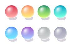 3d koloru sfery wektor ilustracji