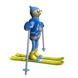 3d kosztuje narciarki halnego narciarstwo royalty ilustracja