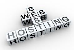 3d Kreuzworträtsel ?beste Web-Bewirtung? Stockfoto