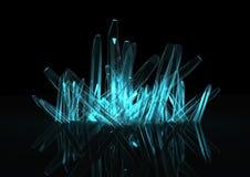 3d kristal Stock Foto