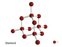 3d krystaliczny diament odizolowywający kratownicy model ilustracji