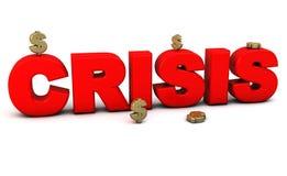 3d kryzysu czerwony słowo Zdjęcie Stock