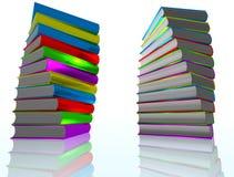 3d książki odpłacają się Fotografia Royalty Free