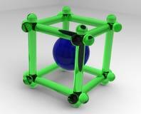3D kubus Stock Afbeelding