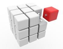 3D kubus Stock Fotografie
