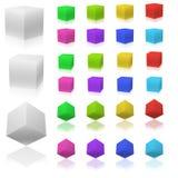 3D kubussen Stock Foto