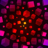 3D kubussenachtergrond Stock Foto's