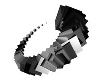 3d kubusseneffect Royalty-vrije Stock Afbeelding