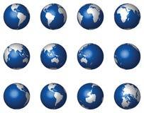 3d kul ziemskich glansowany wektorowy biel Zdjęcia Stock