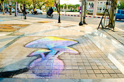 3D Kunst op de Straat (23 Maart - 7 April 201 Stock Afbeelding