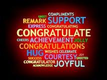 3d kweek congratulationâs woord-wolk Royalty-vrije Stock Afbeeldingen