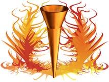 3D l'immagine di fuoco olimpico. Immagini Stock