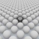 3d la sfera chromeplated in una congestione di sphe royalty illustrazione gratis