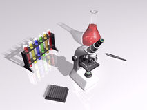 3D laboratory scene Stock Photo