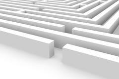3D labyrint Royalty-vrije Stock Foto's