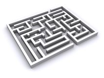 3D labyrint Royalty-vrije Stock Afbeeldingen