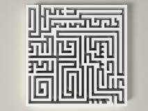 3D labyrint Stock Afbeeldingen