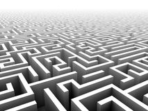 3D labyrint Royalty-vrije Stock Foto