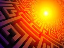 3D labyrint Royalty-vrije Stock Afbeelding