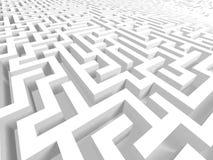 3D Labyrint Stock Foto's
