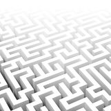 3d labyrinth Stock Photo