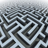 3d labyrinth. Endless gray labyrinth 3d illustration Stock Image