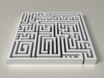3D Labyrinth Stock Image