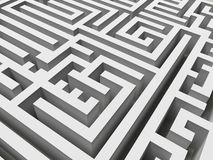 3D labyrinth stock photos