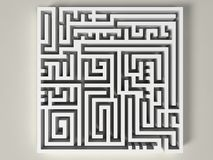 3D Labyrinth Stock Images