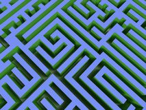 3D labyrinth Stock Photos