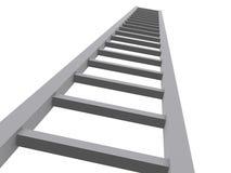3d ladder aan de hemel stock illustratie
