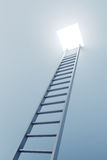3d ladder leading to out Royalty Free Stock Image