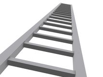 3d ladder to the sky. A render of a 3d ladder Royalty Free Stock Photo