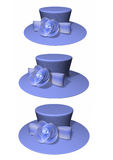 3D ladies hat collection Royalty Free Stock Images