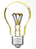 3d lamp. The three-dimensional image of an electric incandescent lamp Royalty Free Illustration