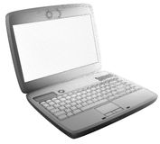 3D laptop with edges Royalty Free Stock Images